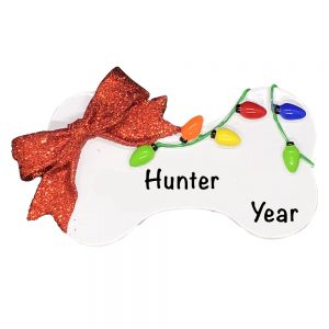 Christmas Dog Bone Personalized Christmas Ornament