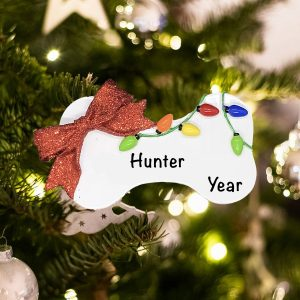 Personalized Christmas Dog Bone Christmas Ornament