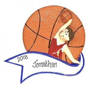 Basketball Dunk Boy Personalized Ornament