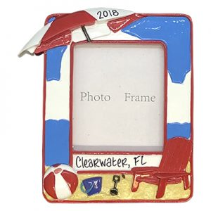 Beach Picture Frame Personalized Ornaments