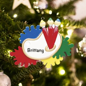 Personalized Art Palette Christmas Ornament