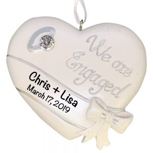 We Are Engaged Personalized Christmas Ornament