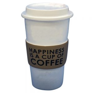 Coffee Cup Happiness Personalized Christmas Ornament - Blank