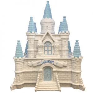 Princess Castle Blue Girls Piggy Bank