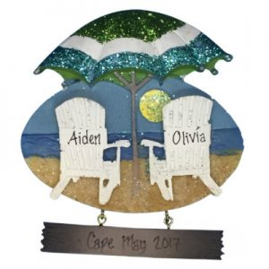 Beach Chair And Umbrella Personalized Ornament