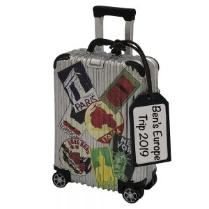 Travel Suitcase Personalized Christmas Ornament