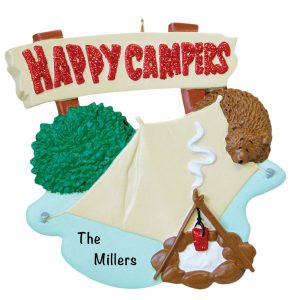 Happy Camper Personalized Christmas Ornament