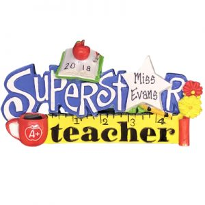 Superstar Teacher Personalized Ornament
