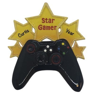 Video Game Star Personalized Christmas Ornament