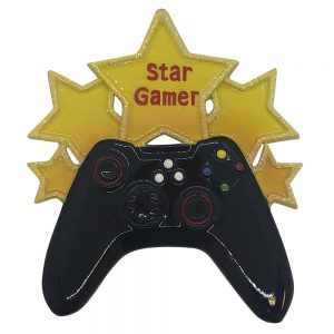 Video Game Star Personalized Christmas Ornament - Blank