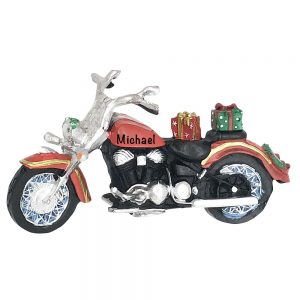 Harley Style Motorcycle Personalized Christmas Ornament