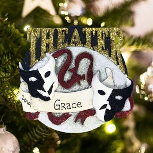 Personalized Theater Acting Christmas Ornament