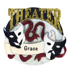 Theater Acting Personalized Christmas Ornament