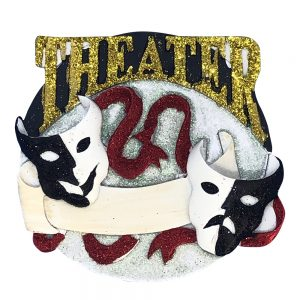 Theater Acting Personalized Christmas Ornament - Blank