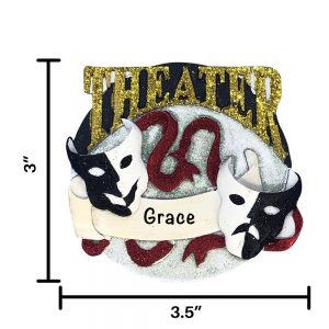 Theatre Personalized Christmas Ornament