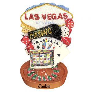 Las Vegas Personalized Christmas Ornament