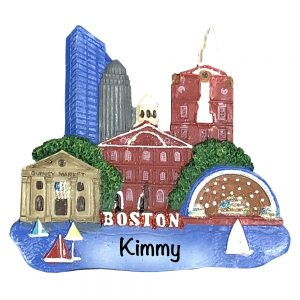 Boston Personalized Christmas Ornament
