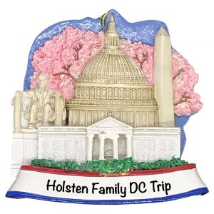 Washington DC Personalized Christmas Ornament