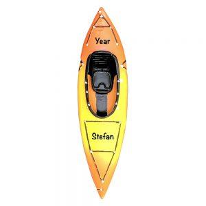 Kayak Personalized Christmas Ornament