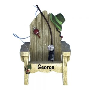 Fishing Chair Personalized Christmas Ornament