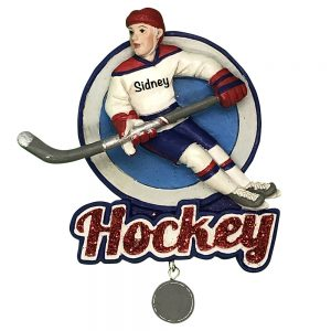 Ice Hockey Player Personalized Christmas Ornament