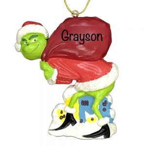 The Grinch Santa Personalized Christmas Ornament