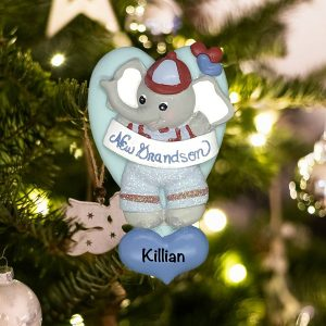 Personalized New Grandson Christmas Ornament