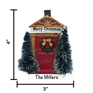 Merry Christmas Red Door Personalized Ornament
