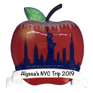 NYC Big Apple Personalized Christmas Ornament