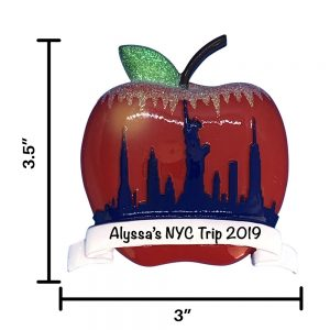 New York Apple Personalized Christmas Ornament