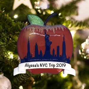 Personalized NYC Big Apple Christmas Ornament