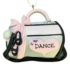 I Love Dance Bag Personalized Christmas Ornament - Blank