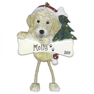 Labradoodle (Cream) Christmas Ornament