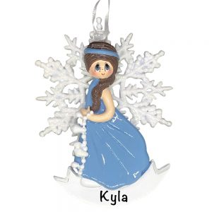Snow Princess Brown Personalized Christmas Ornament
