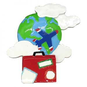 World Travelers Personalized Ornament - Blank