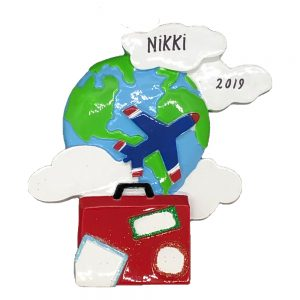 World Travelers Personalized Ornament