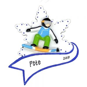 Snowboarding Personalized Christmas Ornament