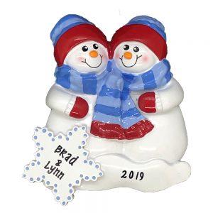 Snow Buddies Personalized Christmas Ornament