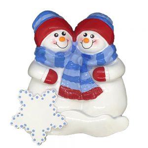 Snow Buddies Personalized Christmas Ornament - Blank