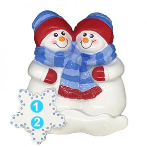 Snow Buddies Personalized Christmas Ornament - Numbered