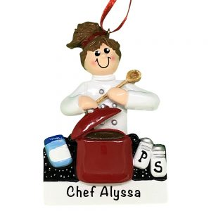 Loves To Cook Personalized Christmas Ornament