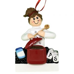 Loves To Cook Personalized Christmas Ornament -blank