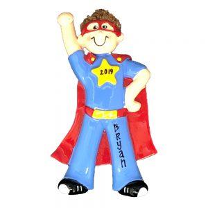 Super Hero Boy Personalized Christmas Ornament