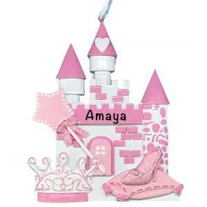Princess Castle Personalized Christmas Ornament