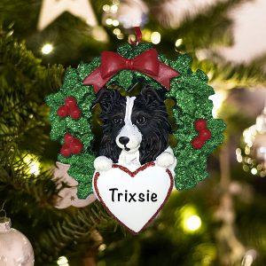 Personalized Australian Sheepdog Christmas Ornament