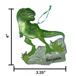 T-Rex Dinosaur Personalized Christmas Ornament