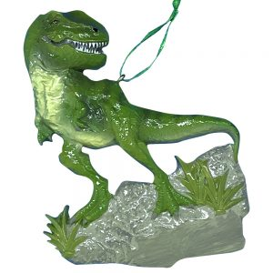 T-Rex Dinosaur Personalized Christmas Ornament - blank