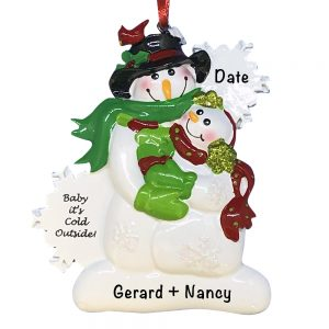 Baby it's Cold Outside Couple Personalized Christmas Ornament