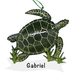 Sea Turtle Personalized Christmas Ornament