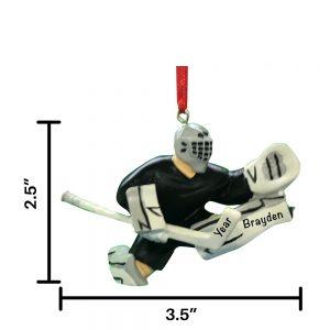 Hockey Goalie Personalized Ornament